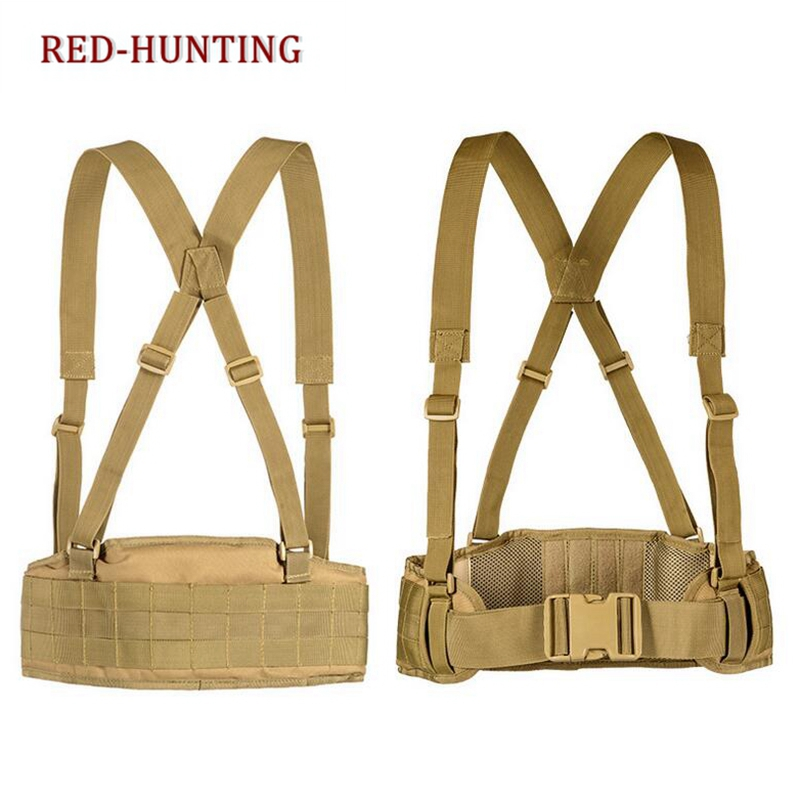Airsoft Combat Suspender Adjustable Hunting Waist Support Tactical Gear Molle Padded Waist Belt Keep You Fit All The Time
