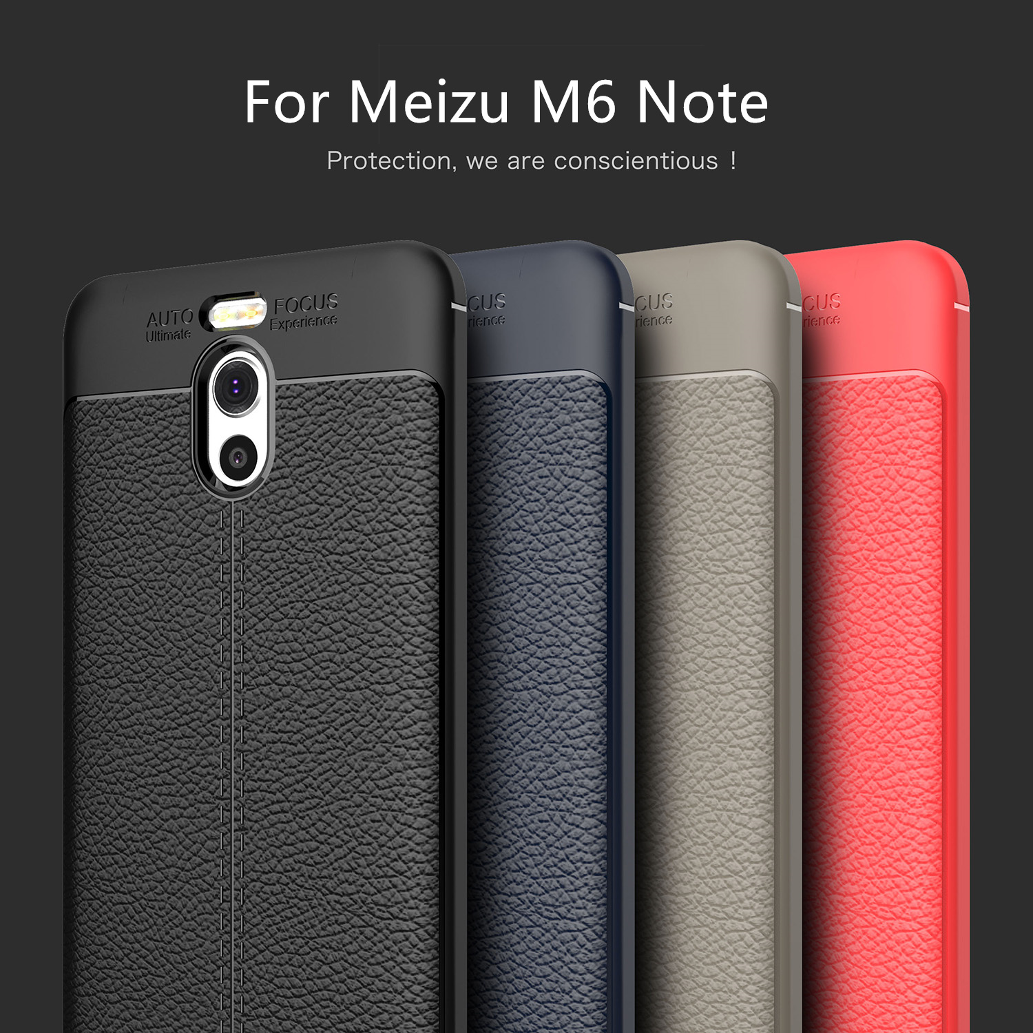 Meizu M6 Note Case Meizu M 6 Note Cover Soft Silicone Leather Style Shockproof Armor Phone Case For Meizu M6 Note Fundas 5 5 quot in Fitted Cases from Cellphones amp Telecommunications