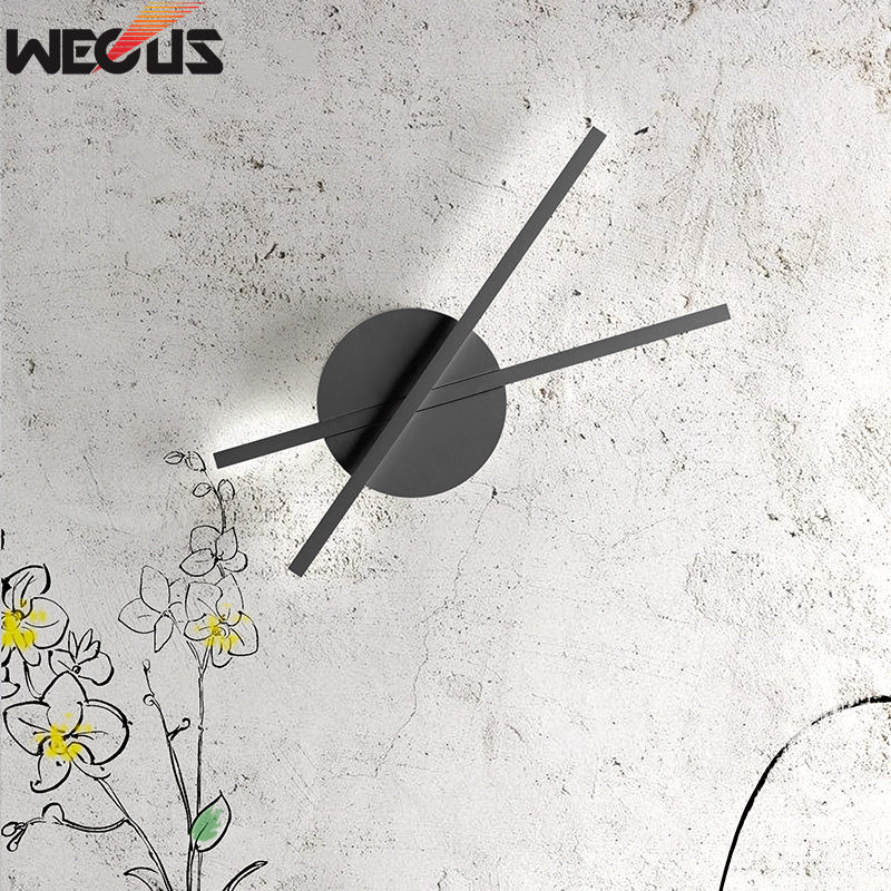 (WECUS) Minute wall lamp, modern minimalist bedroom bedside creative personality warm led study hallway aisle lamp