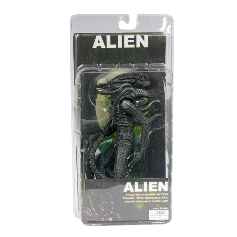NECA Official 1979 Movie Classic Original Alien PVC Action Figure Collectible Toy Doll 7 18cm neca the terminator 2 action figure t 800 endoskeleton classic figure toy 718cm