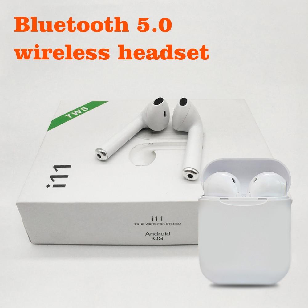 MOONSTAR i11 TWS Bluetooth 5.0 Wireless Earphones Earpieces mini Earbuds For xiaomi Samsung Mobile Phones Sport Earpiece