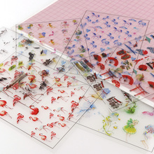 5 Pieces Of Animal Transparent Stickers Fit Silicone Molds Handmade Books Diary  DIY Filling Decoration Material resina Sticker