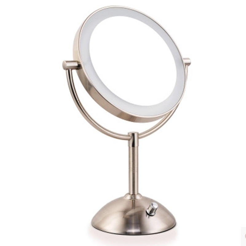 7 Inch Led Cosmetic Mirror with Light 1/3X Stainless Steel 4 pcs AA Battery Makeup Mirror with Light Table Stand Mirror 1pcs lot battery holder box case 3x aa 4 5v with switch
