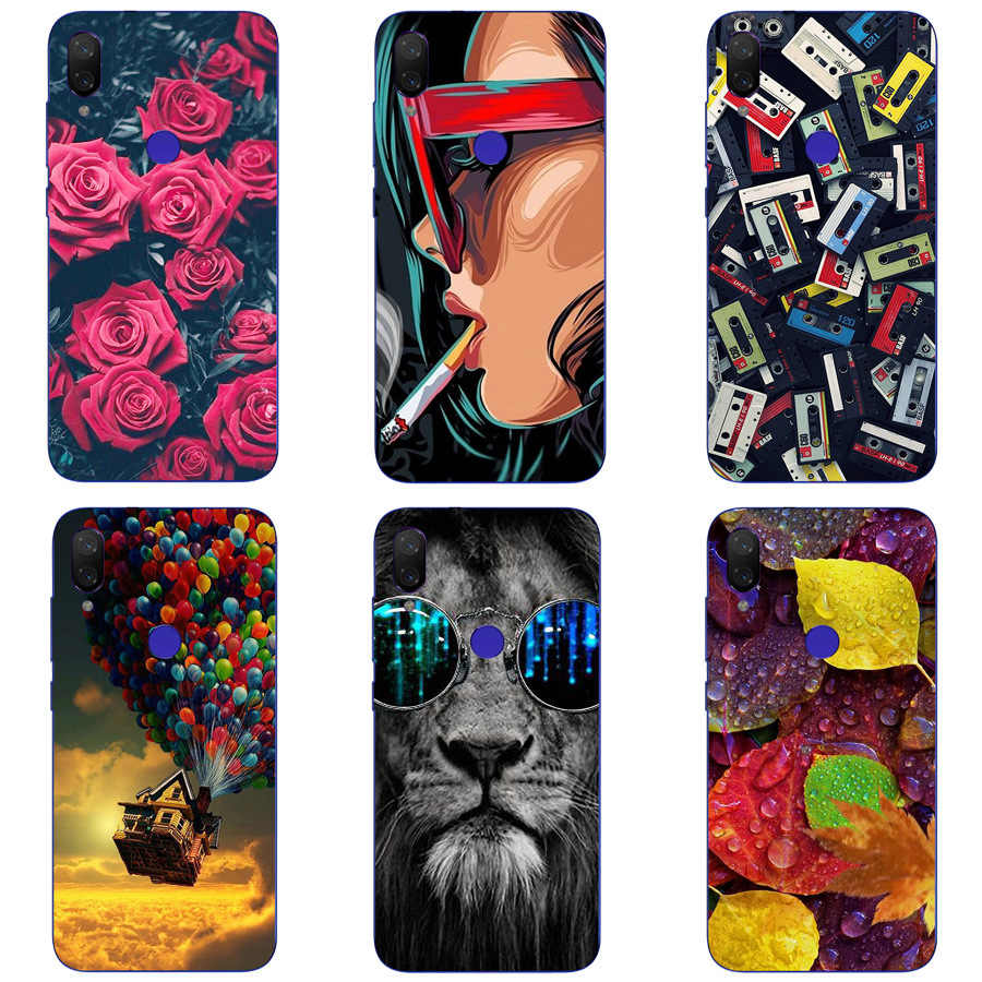 Phone Case For Huawei Y7 Pro 2109 Soft Silicone TPU Fashion Flower Painted Back Cover For Huawei Y7 2019 Case