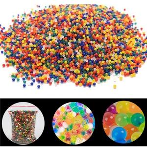 Image 2 - JIMITU 10000 teile/beutel Kristall Boden Hydrogel Gel Polymer Orbiz Wasser Perlen Blume/Hochzeit/Dekoration Maison Wachsenden Wasser Bälle