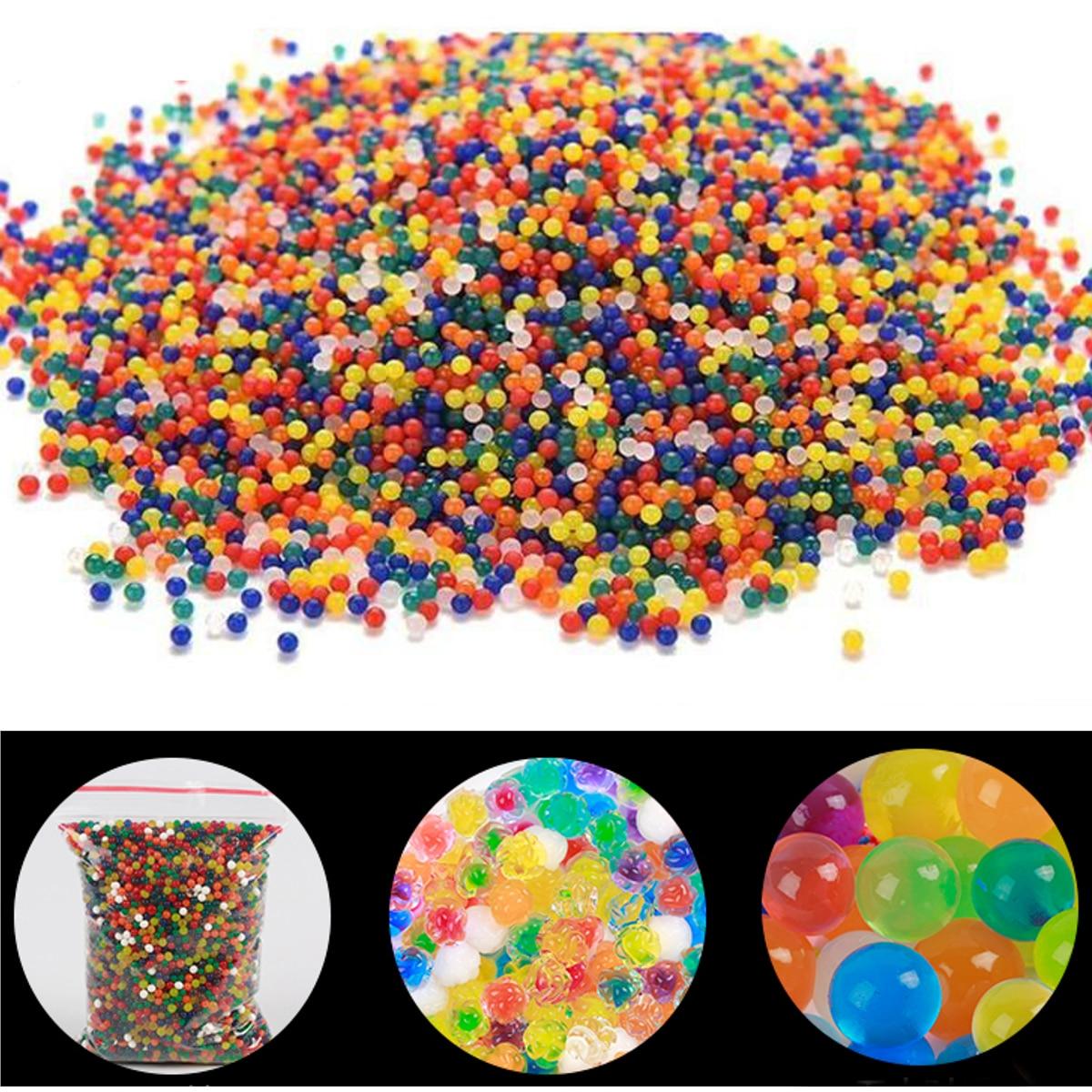 Image 2 - JIMITU 10000pcs/bag Crystal Soil Hydrogel Gel Polymer Orbiz Water Beads Flower/Wedding/Decoration Maison Growing Water Balls-in Toy Balls from Toys & Hobbies