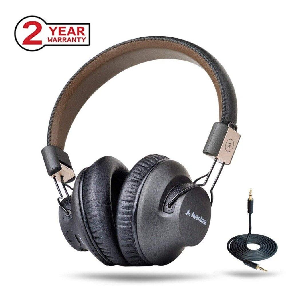 Avantree Bluetooth Sobre A Orelha Fones De Ouvido Sem Fio com Mic, BAIXA LATÊNCIA Rápido de Áudio aptX Headset para Jogos TV PC