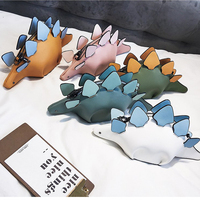 DUSUN Creative Chameleon Cartoon Handbags Flap 3D Funny Dinosaur Animal Messenger Bag Panelled Shoulder Crossbody Bags Girl Gift