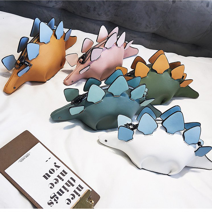 DUSUN Creative Chameleon Cartoon Handtassen Flap 3D Grappige Dinosaurus Dier Messenger Bag Panelled Schouder Crossbody Tassen Meisje Gift