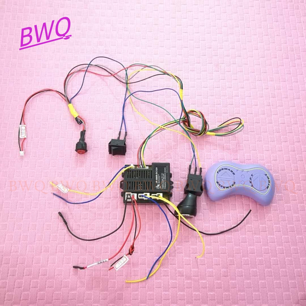 Kids Power Wheels 12v Children Electric Car Diy Kit Wires Switch And Smooth Start Bluetooth Remote Control With 2wd Smart Remote Control Aliexpress