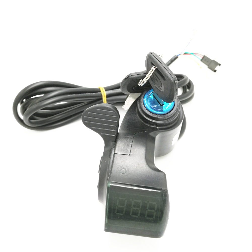 Electric Bike Twist Throttle Grips With LED Display Screen Handle ...