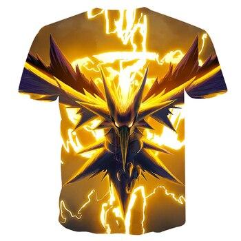 Pokemon Casual 3D Pokemon Harajuku T-Shirts For Men Clothing 2019 Short Sleeve Kpop T-shirt Tops Corrective Hip Hop Plus Sizes 2