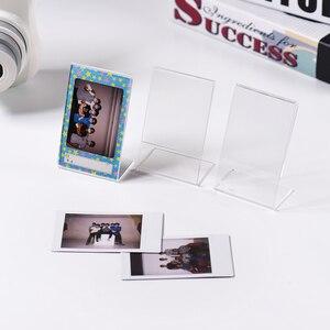 """Image 2 - Акриловая фоторамка Andoer 3 """"L образной формы, прозрачная мини подставка для Fujifilm Instax Mini 8, 8 + 70, 7s, 90, 25, 26, 50s, 9, зеркальная пленка"""