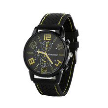 Sizzling Gross sales 2015 Males's Informal Sports activities Stainless Metal Silicone Band Quartz Analog Wrist Watch