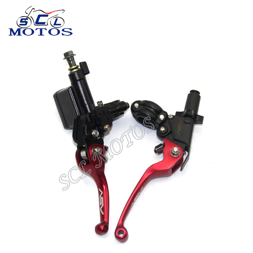 Sclmotos CNC Folding Brake Lever Clutch Lever With Front Pump Fit Motorcycle Dirt Pit Bike Motorcross CRF KLX YZF RMZ Refit Part