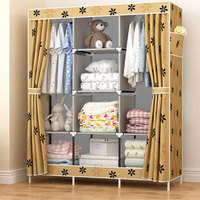 Multi Purpose Non Woven Cloth Large Wardrobe Closet DIY Assembly Fabric Closet Folded Clothing Storage Cabinet