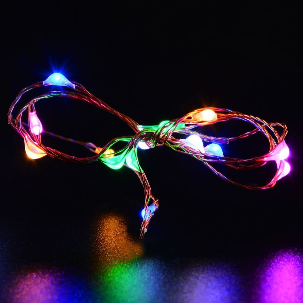 2pcs string lights micro 100 leds super bright led rope lights 2pcs string lights micro 100 leds super bright led rope lights battery operated long thin string copper for christmas home in lighting strings from lights mozeypictures Images