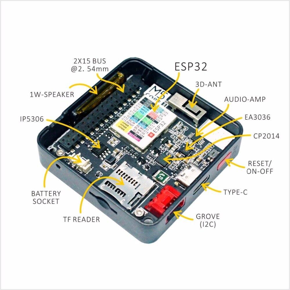 Module de micro-commande Extensible M5Stack kit de développement WiFi Bluetooth ESP32 intégré ESP-32 LCD 2 pouces pour arduino - 3