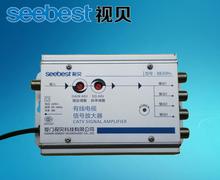 SB-8830H4 CATV signal  Amplifier 30db adjustable gain TV Signal BOOSTER  4WAY Cable TV power SPLITTER