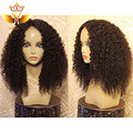 7A Virgin Mongolian Kinky Curly Full Lace Human Wigs For Black Women Unprocessed Afro Kinky Curly Lace Front Wig With Baby Hair