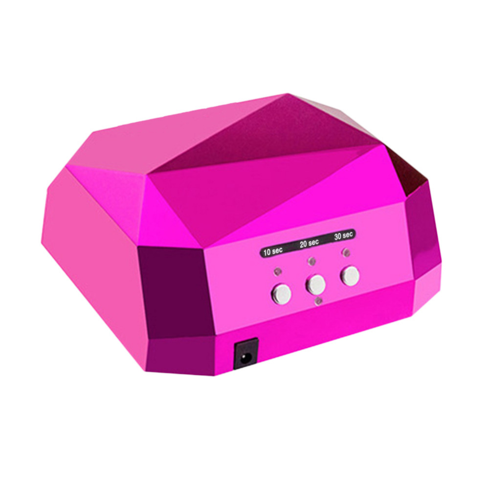 36W UV Led Lamp Nail Dryer 5 Color Diamond Shaped LED UV Lamp Nail Lamp Curing for UV LED Gel Nails Polish Nail Art Tools