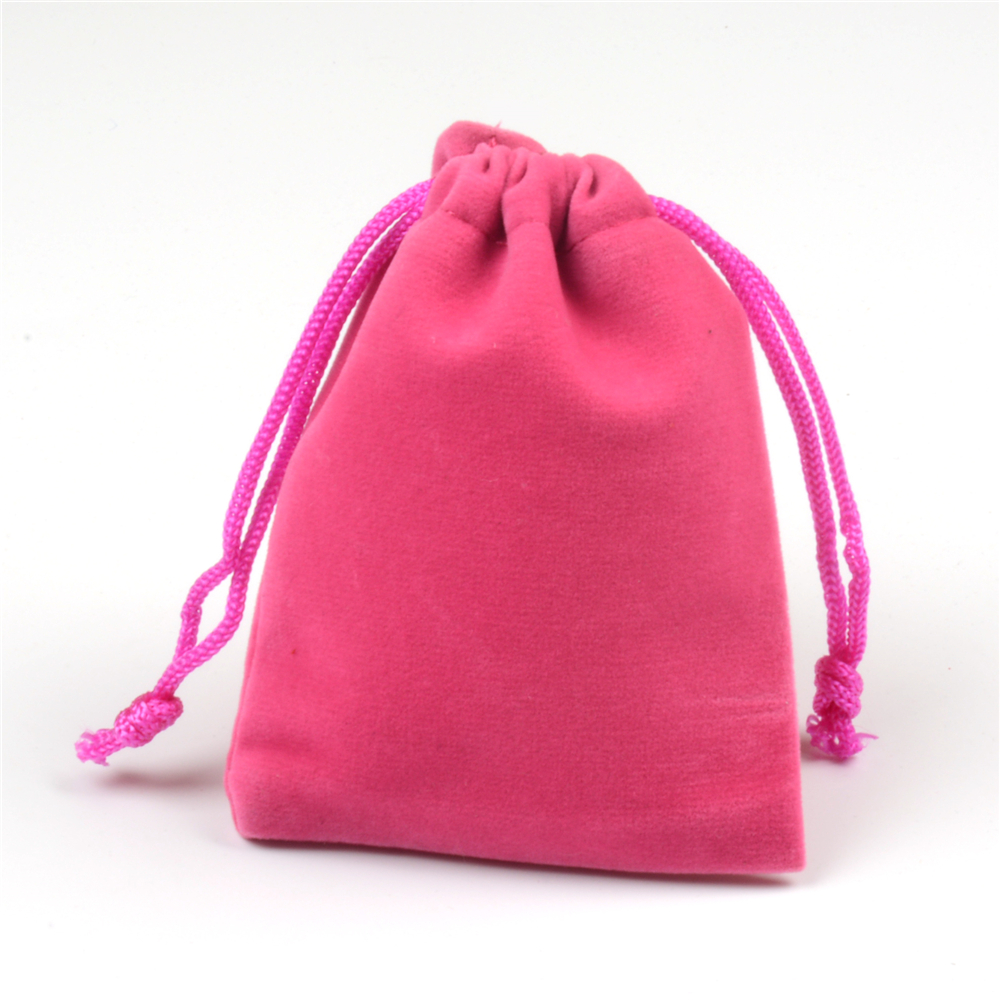 50pcs/lot 7x9cm Hot Pink Small Velvet Drawstring Bags Jewelry Charms ...