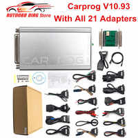 Newest Carprog V10.93 Car prog 10.93 Full 21 Adapters V10.05 Carprog Programmer Airbag Reset Car Repair Tool Free Ship