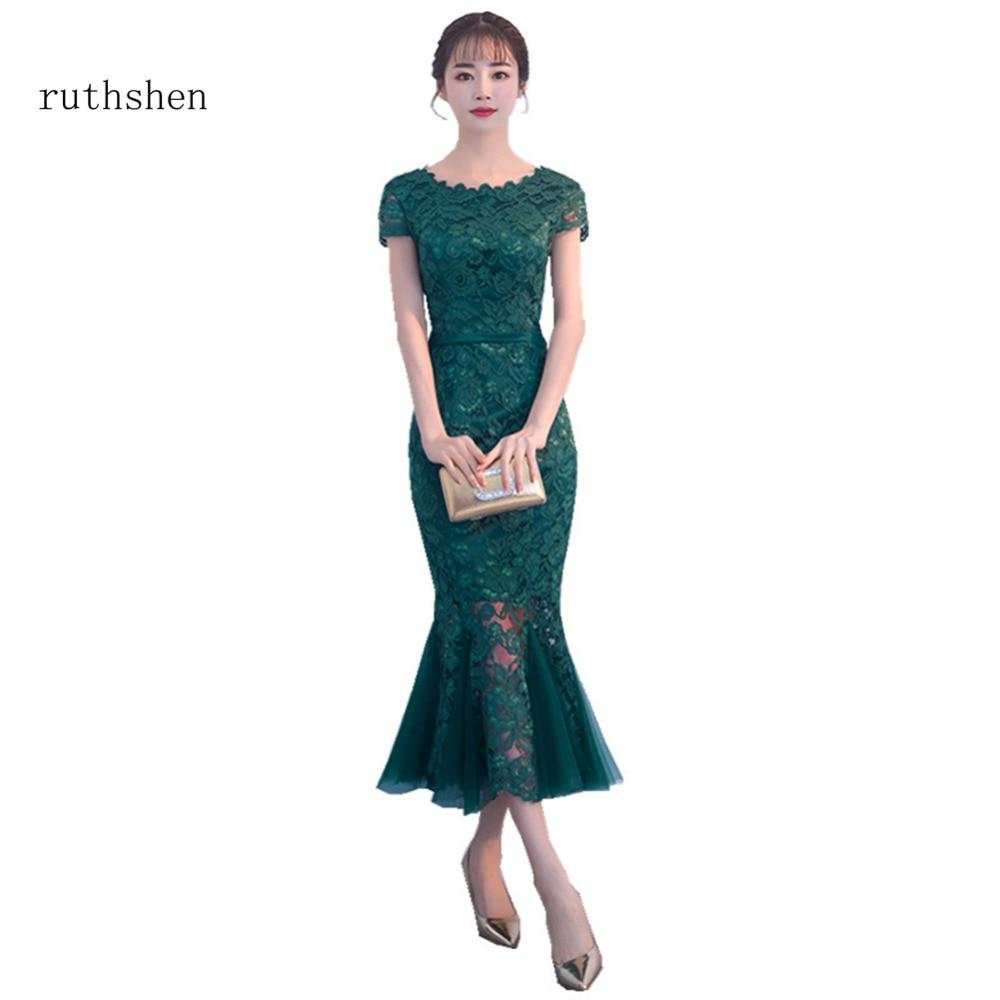 ruthshen Tea Length Elegant Evening Gowns 2018 Robes De Soiree Short ...