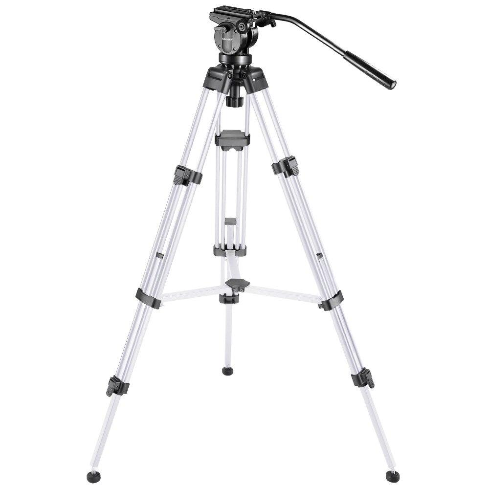 Neewer Pro видеокамера тренога 61 дюйм(ов) Алюминий сплава с 360 градусов гидравлическая головка Быстрый подошву пузырьковый уровень