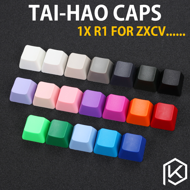 Taihao Abs Blank Keycaps Blank 1u 1x R1 R1 For Diy Gaming Mechanical Keyboard Esc Function White Grey Beige Red Blue Red