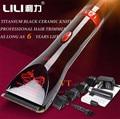 [BLACK CERAMIC] Professional 15W Men's Electric Hair Trimmer Titanium Haircut Baby Hair Clipper Shaving Cutting Machine 110-240V