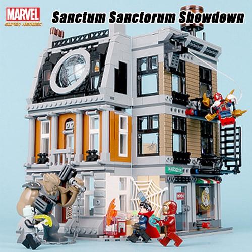 Bela 10840 Marvel Avengers Infinity Guerra Sanctum Sanctorum Showdown Building Blocks Giocattoli Compatibile Con Legoings Thanos