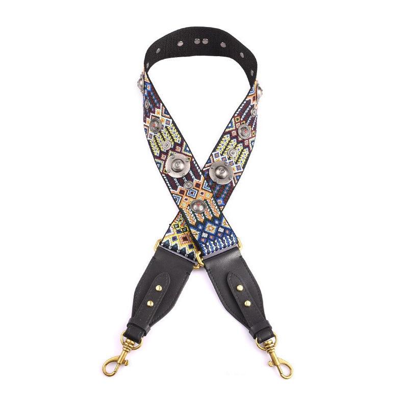 New Rivet Design Women Bag Strap Adjust Handle For Lady Shoulder Strap Trendy Canvas Bags Belts A0022