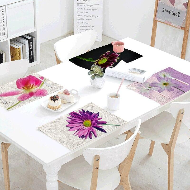 Wholesale 42x32cm Tablecloth Red Rose Purple Flower Letter