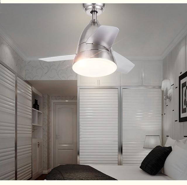 Mini lustre ventilateur LED télécommande salle à manger salon ...