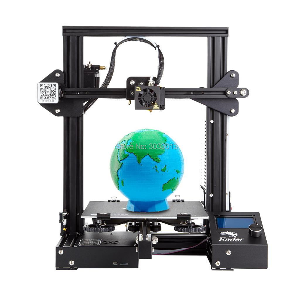 Ender-3 3D printer DIY Kit Large Print Size Prusa i3 printer 3D Ender 3/Ender-3X Continuation Print power 110 hotbed 220*220*250(China)