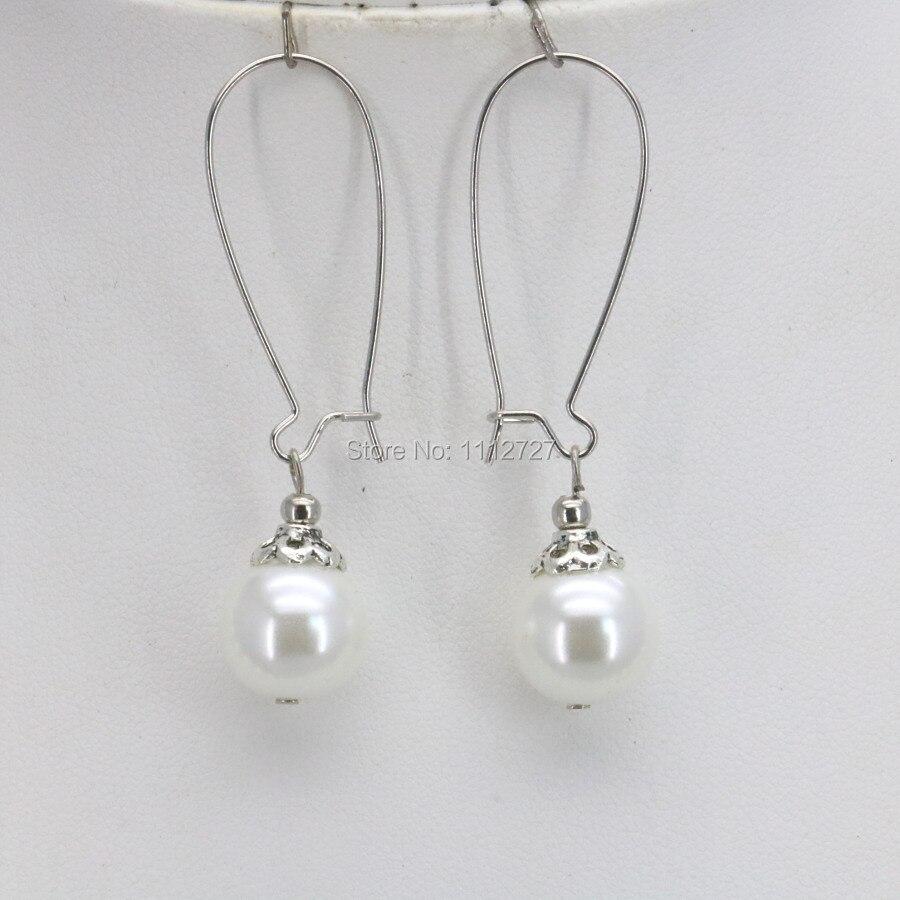 Femmes Rond Blanc Imitation Perle Or Jaune Plaqué Goujons Piercing Boucles d/'oreilles
