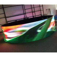 P4 Indoor Full Color Cylindrical Arc Stage Rental LED Screen Scrollable Play Video Text Etc Circular