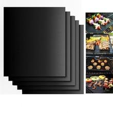 1 шт. антипригарная тефлоновая подстилка для барбекю и гриля для барбекю жаростойкий коврик для приготовления пищи Открытый легкий чистый кемпинг для пикника кухонный гриль