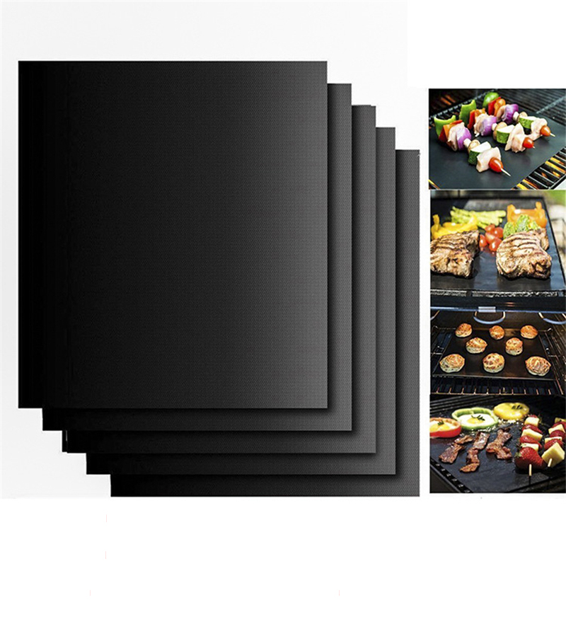 1PCS Non-stick Teflon bbq Grill Mat Barbecue Baking Heat Resistant Cooking Mat Outdoor Easy Clean camping picnic Kitchen grill