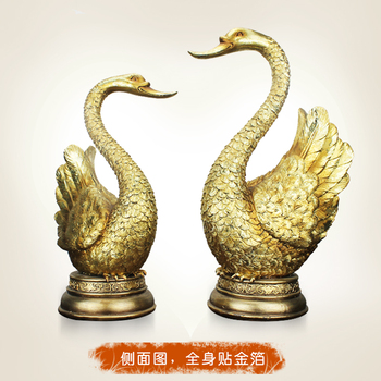 European 24K gold resin handicraft industry with lucky gift wedding gift decoration decoration Swan