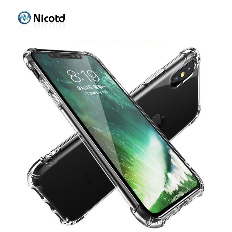 Nicotd TPU Case For iPhone XS Max Soft Case Clear Thin Cases For iPhone XS MAX XR X 7 PLUS 8 6S Case Crystal Silicone Cover bags (3)