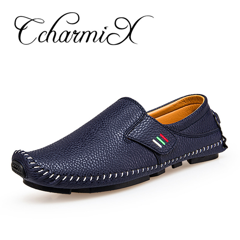 ab5bf6a16c3a CcharmiX Plus Size 38-47 Leather Mens Shoes Spring Men Loafers Men Luxury  Driving Shoes Slip On Casual Men Loafer Moccasins