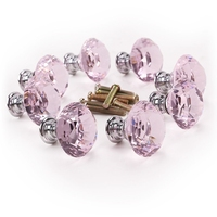 8 x Pink diamond bling decoration door furniture drawer handle knob 30x27mm|Door Handles|   -