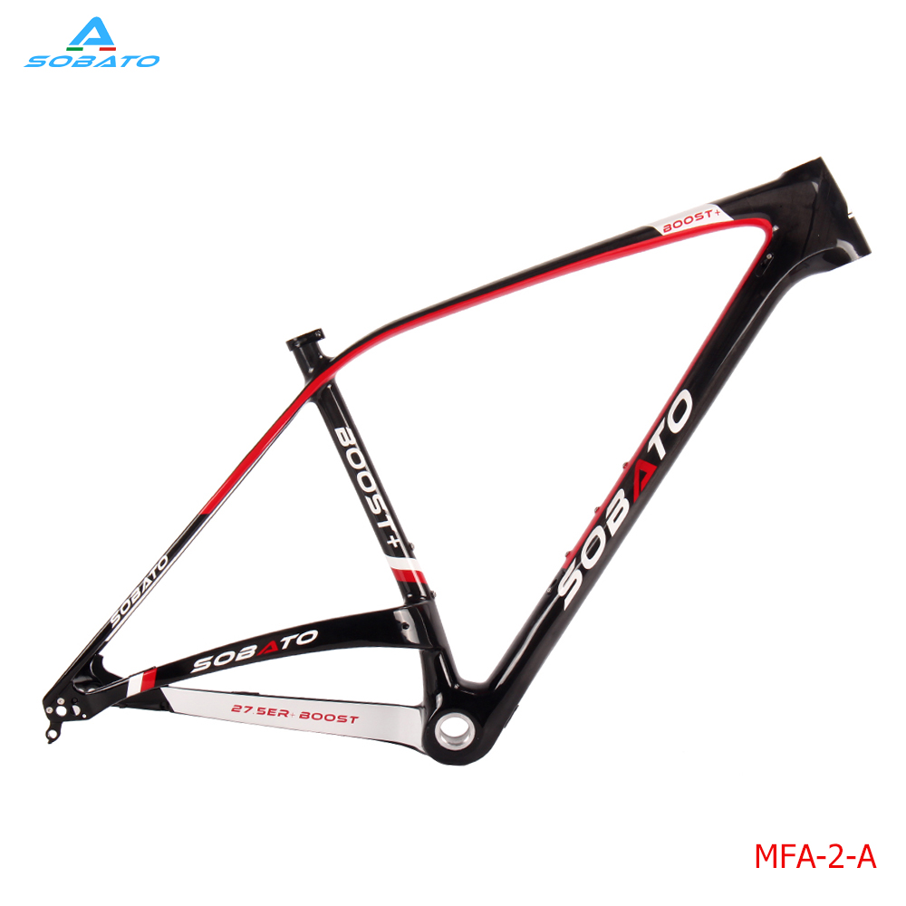 2016 Newest 27.5 inch Mountain Bike Lightest UD Glossy Full Carbon Fibre Bicycle Frames MTB 27.5er+/29er Plus Red white Black 2017 newest red white black colors mountain