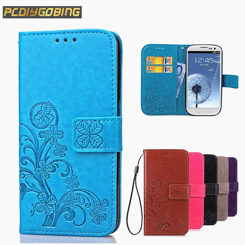 Luxury 3D Flower Lucky Clover Cover Leather Case For Samsung Galaxy J1 2015 J100 J100F Wallet Card Slot Phone Cover Capa Funda