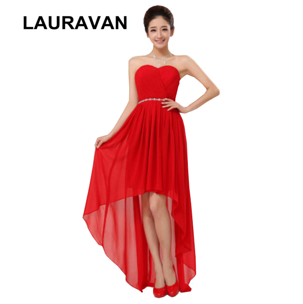 0e04a728e630c Formal red high low corset plus size teen formal gown teens bridesmaid  dresses 2018 semi dress for girls free shipping