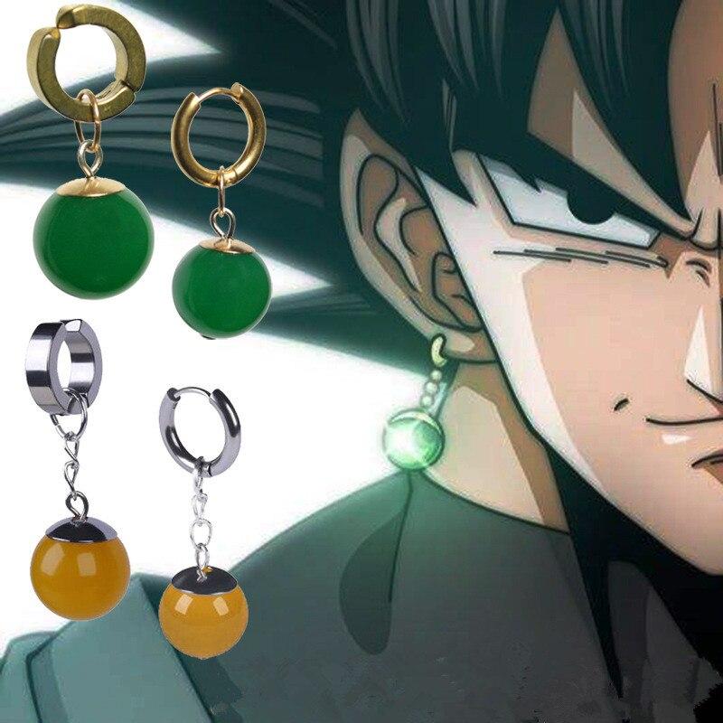 Anime Super Dragon Ball Z Vegetto Potara Supremo Kai Thomas quimerismo negro hijo de Goku Cosplay anillo de disfraces pendientes zamasu Ebebek Bebbek verano bebé niña Tropical Supremo Crew-Neck body
