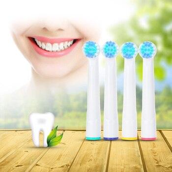 Gustala 20 piezas cabezales eléctricos de cepillo de dientes de repuesto de higiene bucal cabezas de cepillo de dientes cerdas suaves cabezas de cepillo de dientes