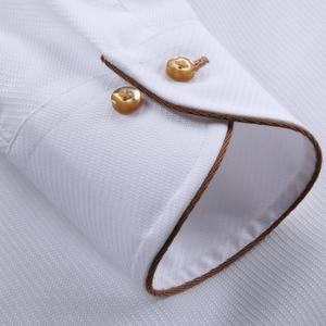 Image 5 - Deepocean Tuxedo Shirt Styles 2019 Camisa Social Masculina 100%  Cotton Brand Shirt White chemise homme French slim Fit Shirts
